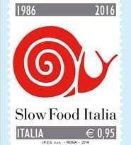 Francobollo creato per Slow Food Italia