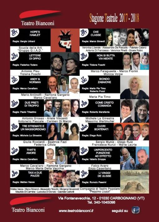 stagione teatrale 2017-2018 teatro bianconi