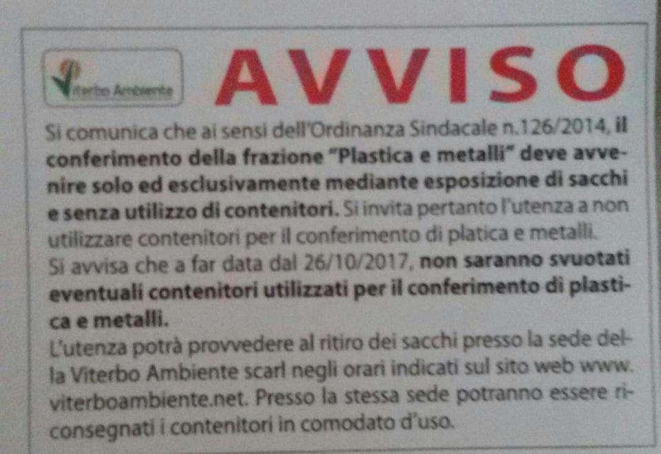 plastica metalli