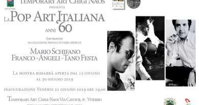 Dal 21 giugno, la Pop Art Italiana anni '60 esposta a Viterbo