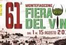 Ai nastri di partenza la 61° Fiera del Vino a Montefiascone