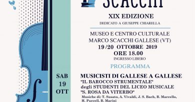 "XIX Festival ""Marco Scacchi"" a Gallese"