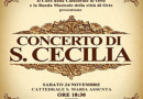 In occasione della memoria  di Santa Cecilia si tengono i concerti in onore della patrona dei musicisti