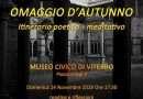 Omaggio d'Autunno, itinerario poetico – meditativo presso il Museo Civico