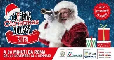 Visitare il Caffeina Christmas Village a Sutri è facilissimo grazie a Trenitalia e Cotral
