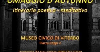 Omaggio d'Autunno, itinerario poetico meditativo al museo civico