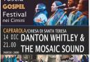Gospel: Danton Whitley & The Mosaic Sound in concerto a Caprarola