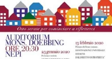 «Oltre l'individualismo la sfida della cura e della responsabilità» stasera terzo incontro presso l'Auditorium Doebbing