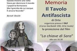 """Il """"Tavolo Antifascista di Orte""""  organizza per il Giorno della Memoria la proiezione del Film """"La chiave di Sara"""""""