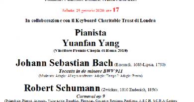 Yuanfan Yang in concerto all'Auditorium di S. Maria in Gradi