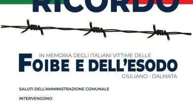 Celebrazione del Giorno del Ricordo, in memoria degli italiani vittime delle Foibe e dell'Esodo
