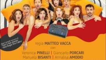 """""""Il letto ovale"""" al Teatro Bianconi: fantasie proibite, trasgressione e tante, tante risate"""