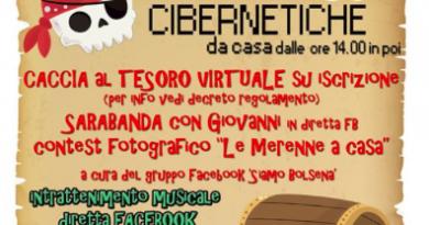 """Bolsena, martedì 14 aprile in diretta Facebook """"Le Merenne cibernetiche"""""""