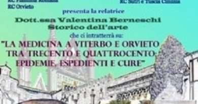 """Rotary Club Viterbo presenta: """"La Medicina a Viterbo e Orvieto tra Trecento e Quattrocento"""" con Valentina Berneschi"""