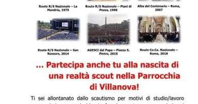 Partecipa anche tu alla nascita di una realtà scout nella Parrocchia di Villanova
