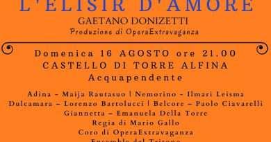 Opera lirica L'Elisir d'Amore al Castello di Torre Alfina