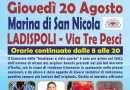 Gli Ambulanti di Forte dei Marmi a Marina di San Nicola e Tarquinia il 20 e 21 agosto 2020