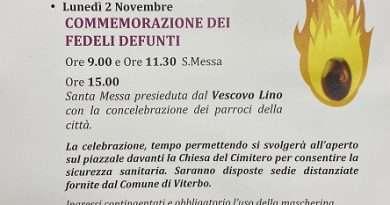 Il Vescovo Lino Fumagalli celebrerà la messa al cimitero di Viterbo