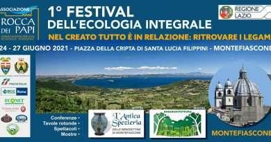 Mercatino dei prodotti tipici biologici nei giorni del Festival dell'Ecologia Integrale