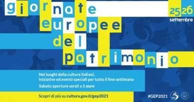 Sabato 25 e domenica 26 settembre tornano le Giornate Europee del Patrimonio