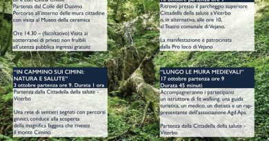 """Asl Viterbo: """"Da domenica 26 settembre, al via Walking friends"""""""
